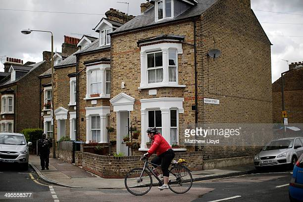 Traditional terraced properties in Greenwich on June 4 2014 in London England Mark Carney Governer of the Bank of England has signalled worries with...