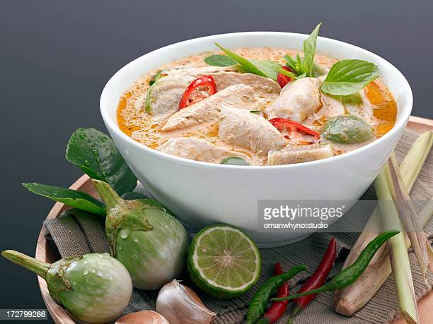 Traditional Thai Red Curry Soup