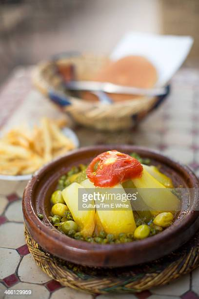 Traditional vegetable tagine,Marrakesh,Morocco