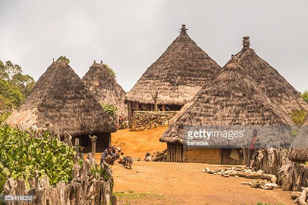 Traditional Village with Huts in East Timor