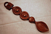 A hand carved wooden love spoon from Wales.  Traditionally given from one lover to another as a token of appreciation.