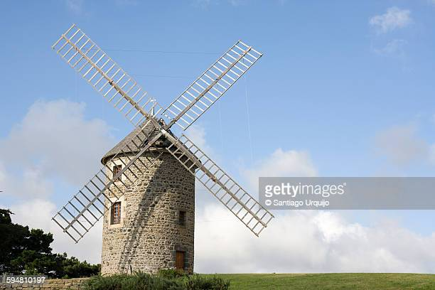 Traditional windmill in Brittany
