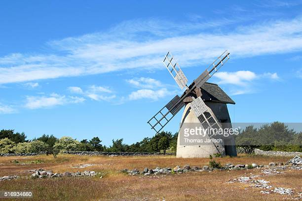 Traditional windmill on Gotland island, Sweden