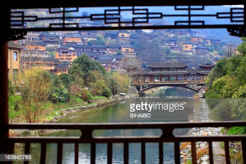 Traditional wooden bridge