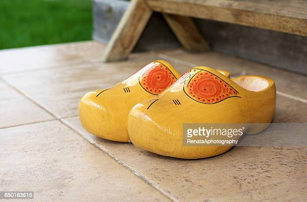 Traditional wooden Dutch clogs