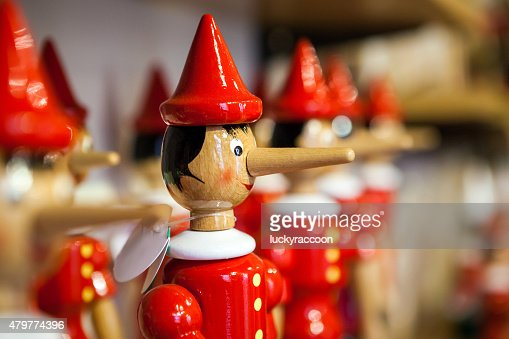 Traditional wooden Pinocchio toy. : Stock Photo