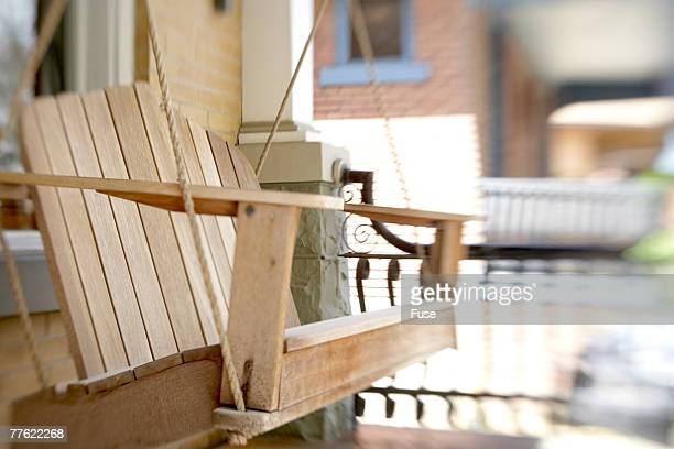 Traditional Wooden Porch Swing