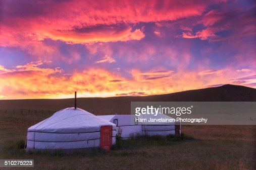 Traditional Yurt (tent) in Mongolia