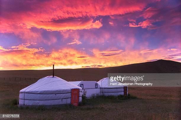 Traditional Yurt (tent) in Mongolia