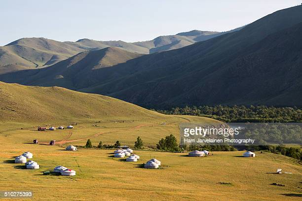 Traditional yurts in Mongolia