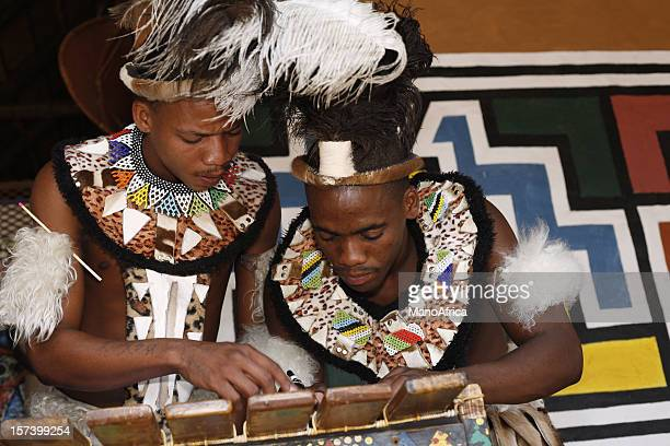 Traditional Zulu men of South Africa