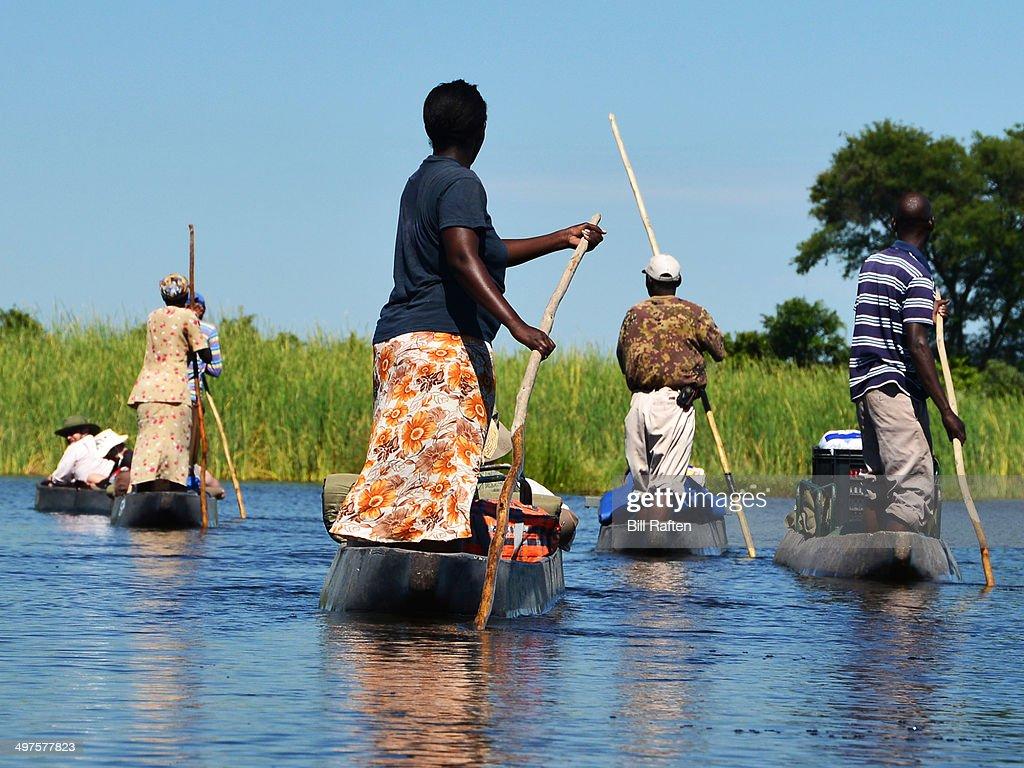 Tradtional mokoro ride in the Okavango Delta