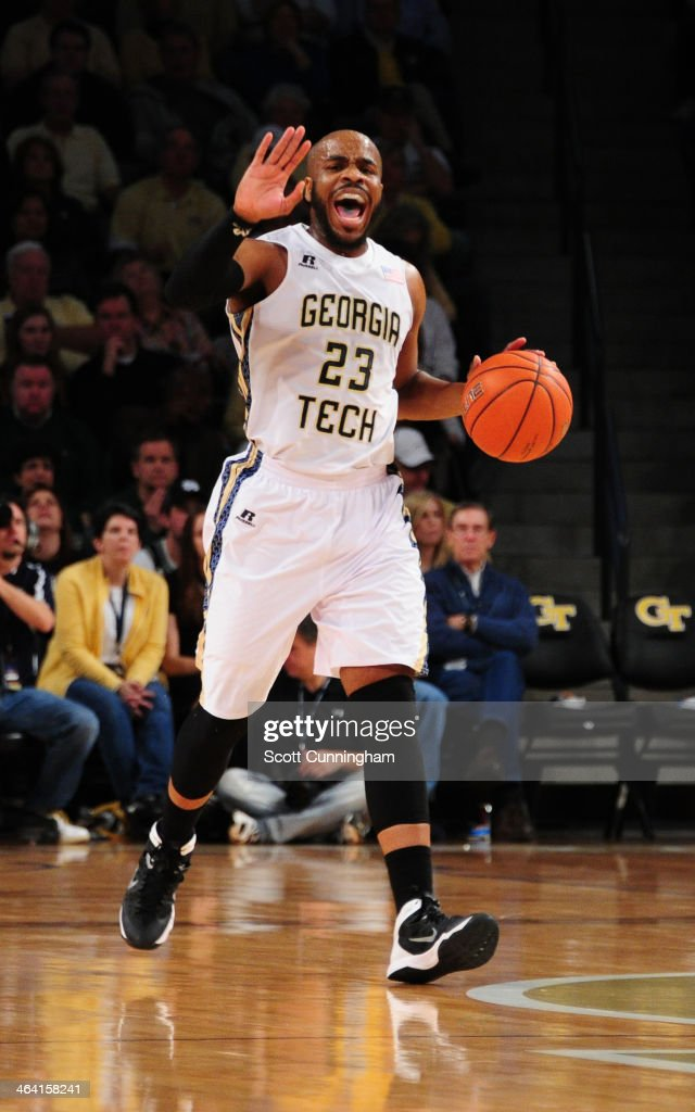 Trae Golden #23 of the Georgia Tech Yellow Jackets drives against the Notre Dame Fighting Irish at McCamish Pavilion on January 11, 2014 in Atlanta, Georgia. Photo by Scott Cunningham/Getty Images)
