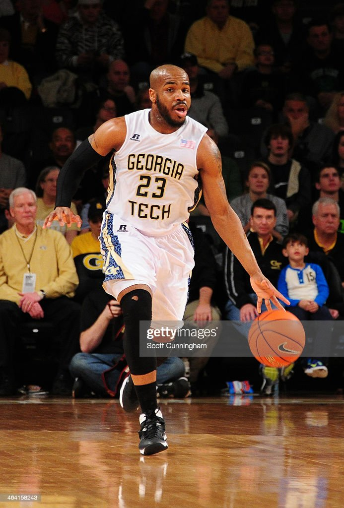 <a gi-track='captionPersonalityLinkClicked' href=/galleries/search?phrase=Trae+Golden&family=editorial&specificpeople=7360099 ng-click='$event.stopPropagation()'>Trae Golden</a> #23 of the Georgia Tech Yellow Jackets drives against the Notre Dame Fighting Irish at McCamish Pavilion on January 11, 2014 in Atlanta, Georgia. Photo by Scott Cunningham/Getty Images)