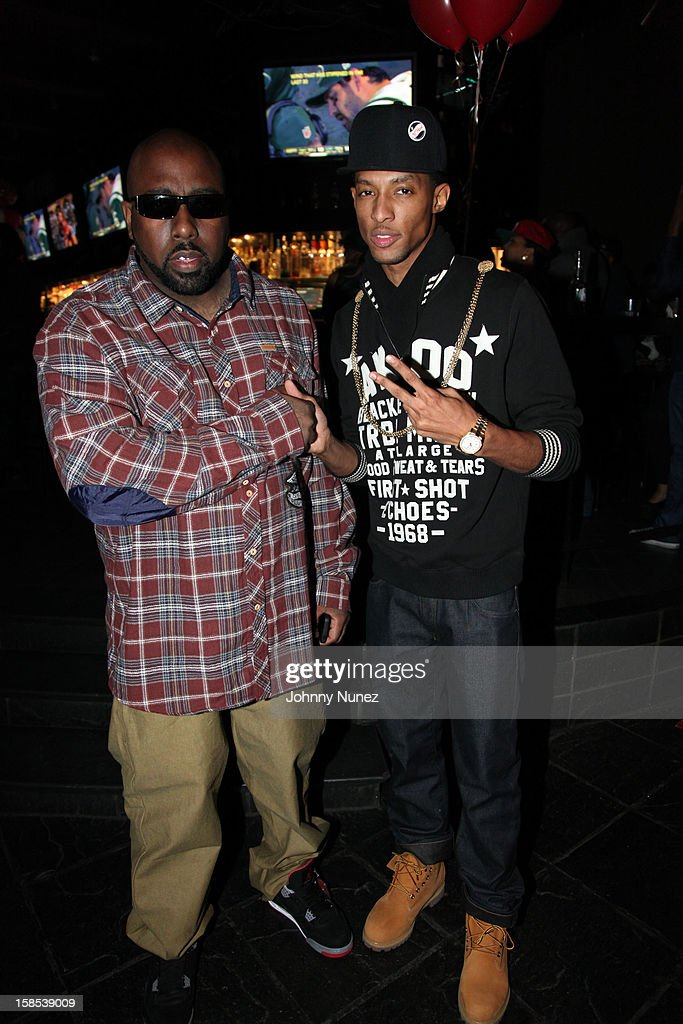 Trae Tha Truth and D. King attend 'Cans For Cocktails' on December 17, 2012 in New York City.
