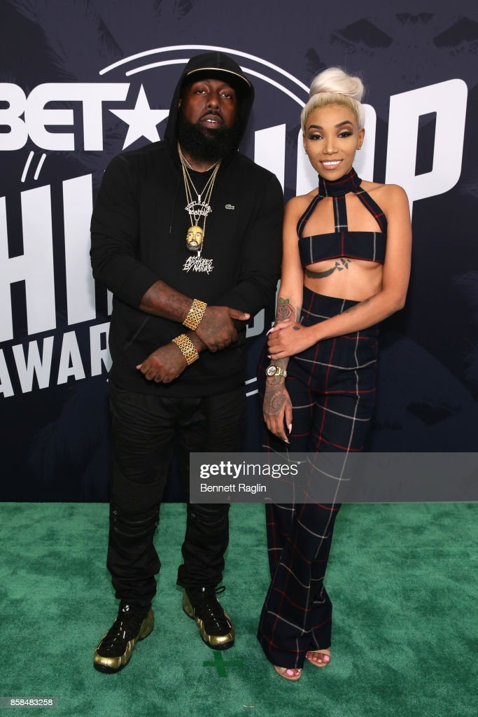 Trae tha Truth and Tokyo Jetz attend the BET Hip Hop Awards 2017 at The Fillmore Miami Beach at the Jackie Gleason Theater on October 6, 2017 in Miami Beach, Florida.