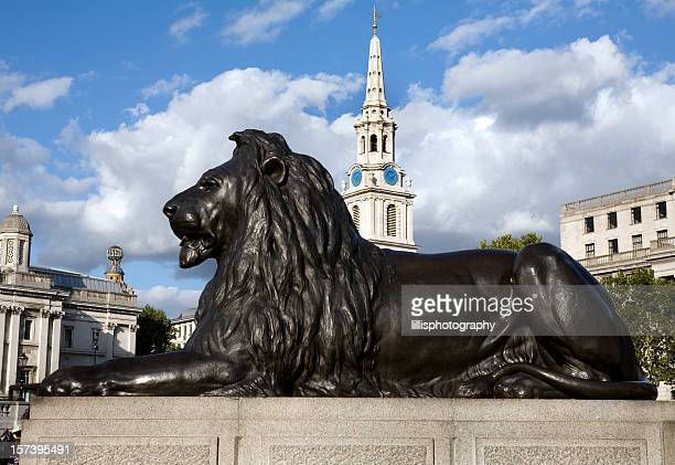 Trafalgar Square Lion Statue London