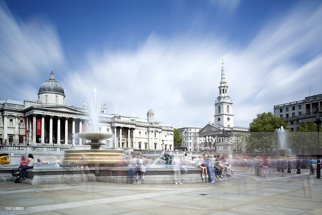 Trafalgar Square, London, England : Stock Photo