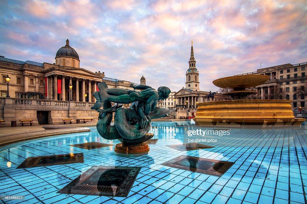 Trafalgar Square Sunrise, London, England