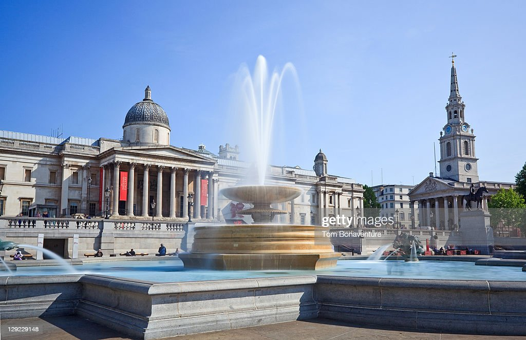 Trafalgar Square with The National Gallery