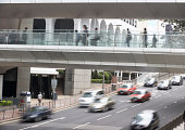 Traffic Along Busy hong kong ethnicity, Street