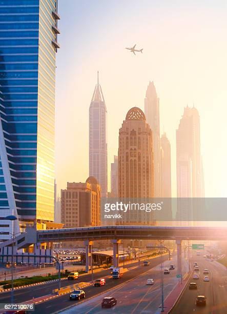 Traffic and skyscrapers in Dubai