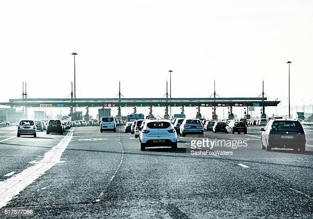 Traffico in prossimità di pedaggio persino