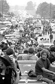 Traffic at a standstill as people try to get to the Woodstock Music Festival