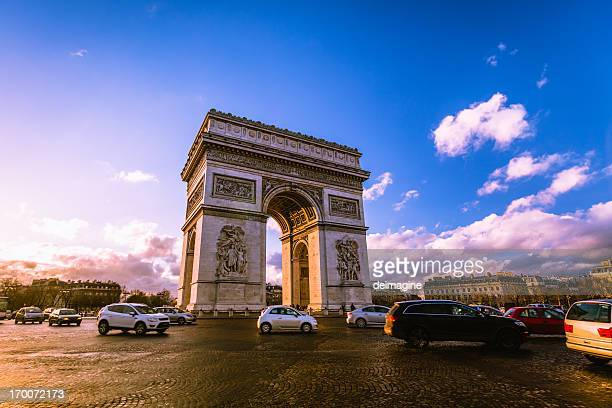 Traffic at Arc de Triomphe Paris