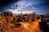 DC traffic at dusk