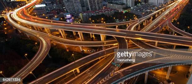 Traffic at modern Shanghai city
