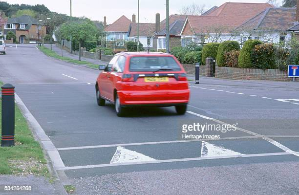 Traffic calming speed hump in Bournemouth 2000