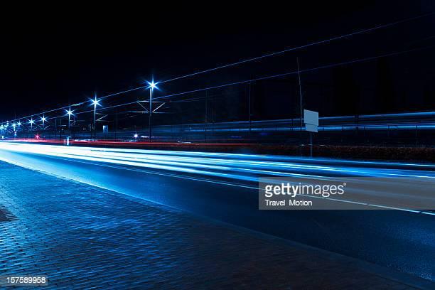Traffic car light trails, Amsterdam