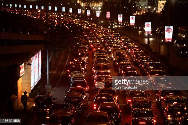 Traffic crawls on Marine Drive December 4 2009 in Mumbai India India announced that it would reduce its carbon intensity levels by 2025% on its 2005...