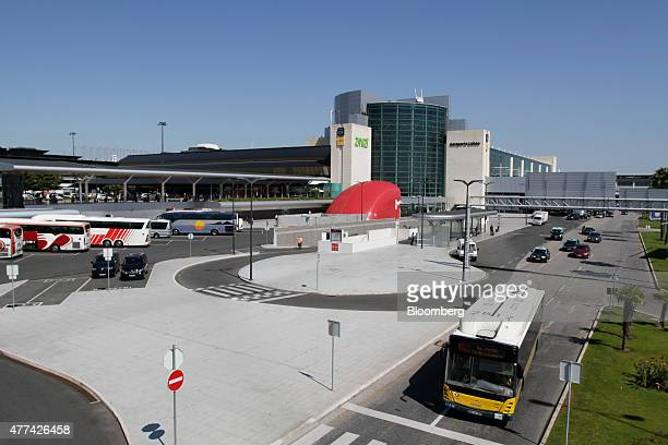 Traffic drives past Lisbon International airport operated by ANAAeroportos de Portugal SA in Lisbon Portugal on Wednesday June 16 2015 The Portuguese...