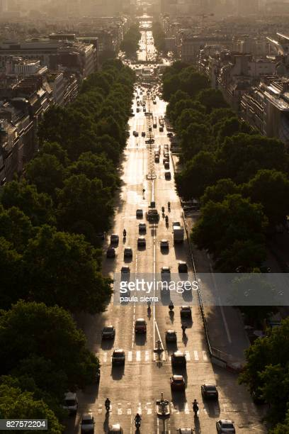 Traffic, from the Arc de Triomphe