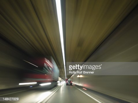 Traffic in a tunnel