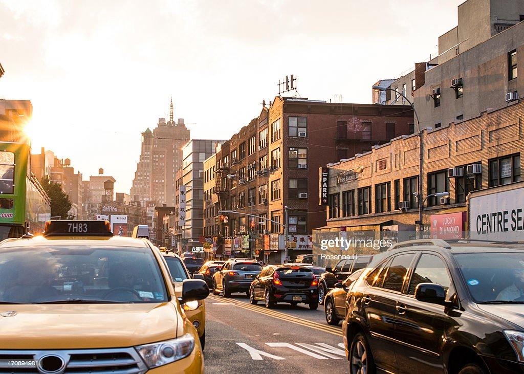 Traffic in Chinatown, New York : Stock Photo