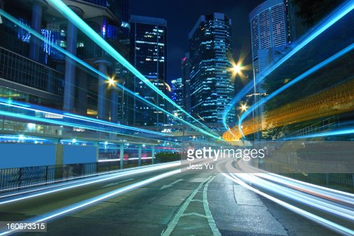 Traffic in downtown of Hong Kong