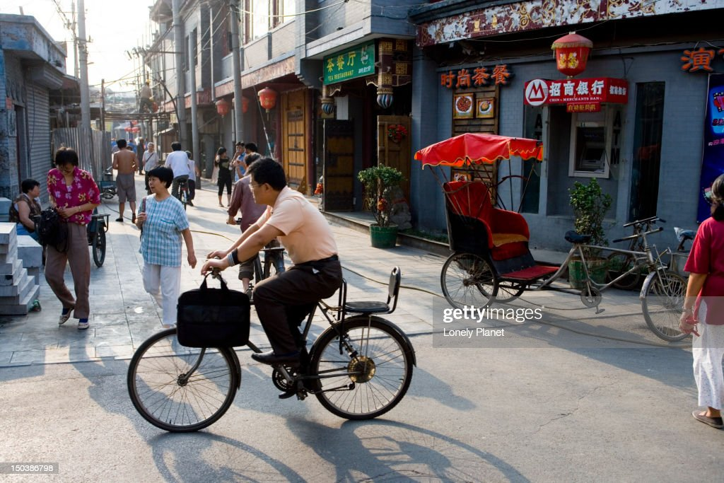 Traffic in hutong area, Dongcheng.