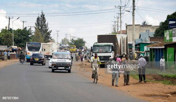 Traffic in Kakamega on May 16 2017 in Kakamega County Kenya