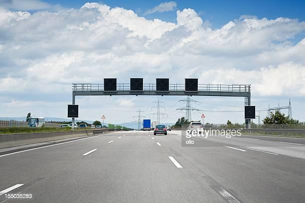 Traffic information system auf Deutsche Autobahn A5