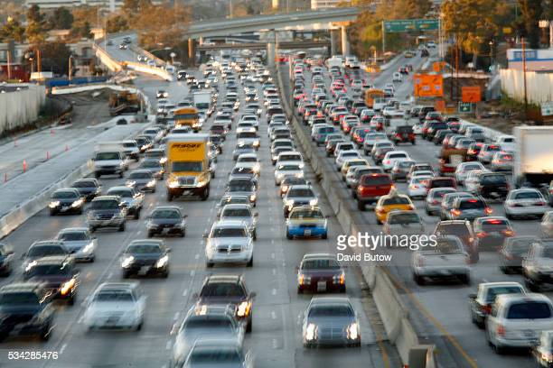 Traffic is backed up during evening rush hour on the I405 San Diego Freeway on the city's west side near the I10 interchange This section of the 405...