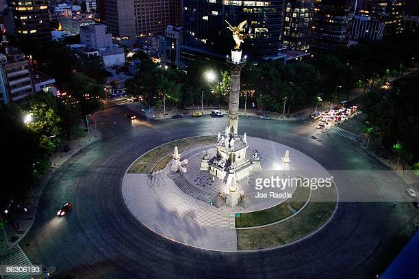Traffic is lighter then usual around the Independence Monument after the government has advised that nonessential government employees stay home in...