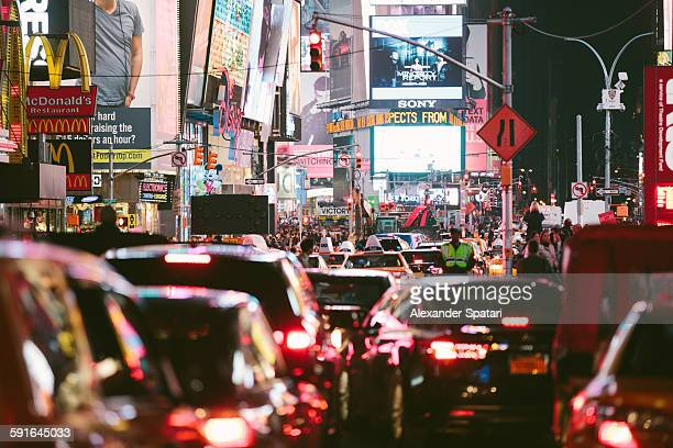Traffic jam at Times Square, New York City, USA