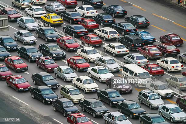 Traffic jam, Beijing, China