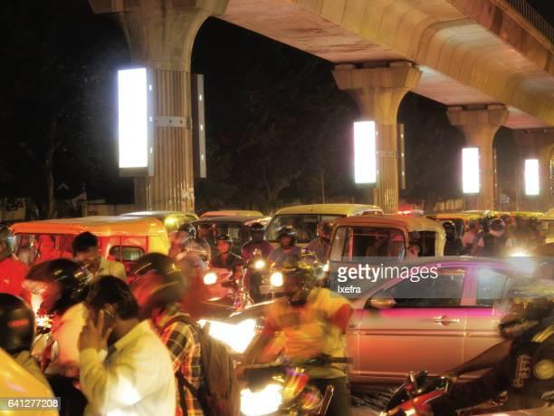 Traffic jam in Bangalore.