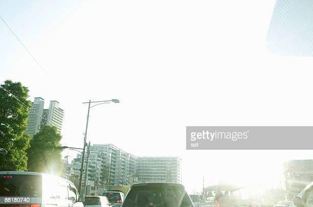 Traffic jam of the car