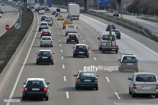 Traffic jam on highway