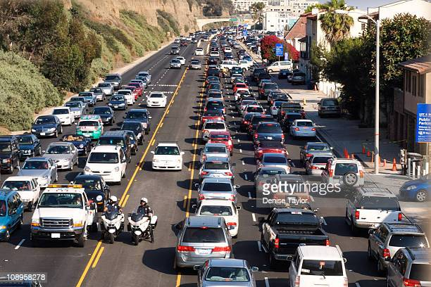 Traffic jam on Pacific Coast Highway